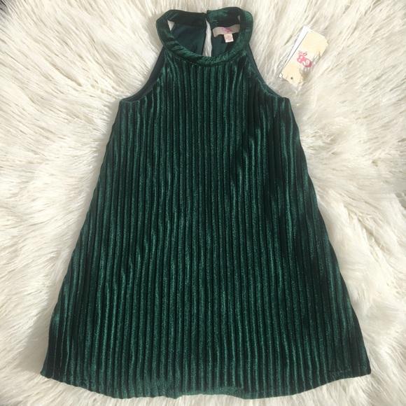 637502b2f0 GB Gilrs green velvet dress🌲. NWT. GB girls